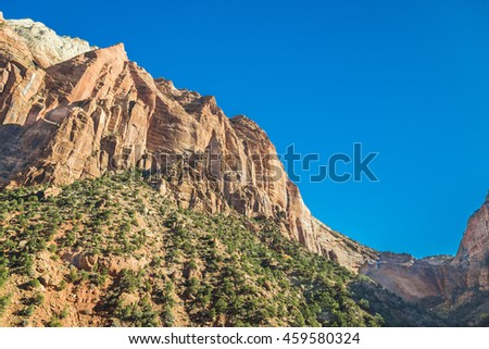Great mountain in Grand Canyon National Park Arizona with the Blue sky