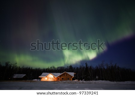 Great northern lights display over Alaska, march 2012