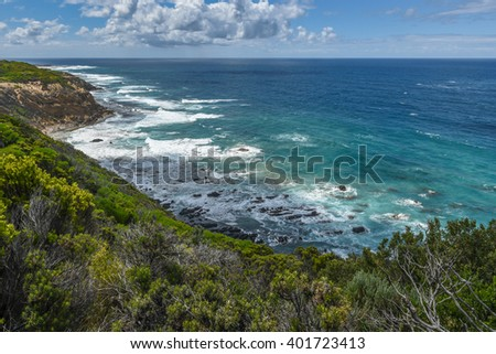 Great Ocean Road Attraction in Victoria, Australia. Untouched seascapes.