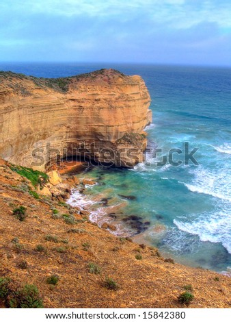 Great Ocean Road Bay, done in HDR - stock photo