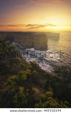 Great Ocean Road Lookout - A dramatic coastline view at the south end of mainland Australia.