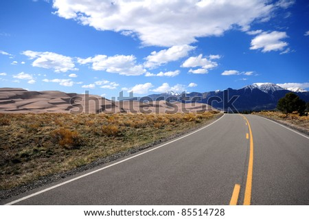 Great Sand Dunes National Park, Colorado USA. On the Road.