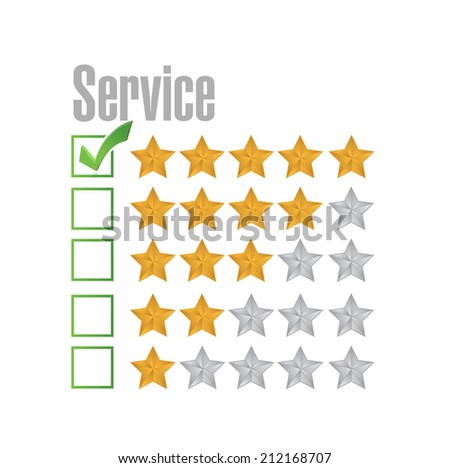 great service rating illustration design over a white background