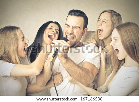 Great Singing - stock photo