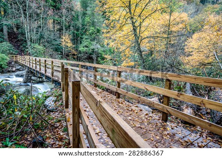 Great Smoky Mountains National Park - Bridge to Chimney Tops Trail  - Gatlinburg Pigeon Forge TN
