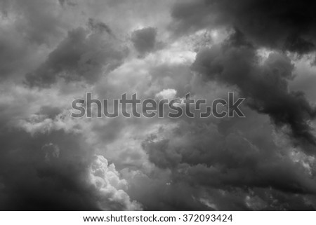 great stormy sky with clouds - stock photo