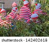 GREAT TORRINGTON, ENGLAND - MAY 4:  A Where's Waldo float in the Grand Carnival on May 4, 2013 in Great Torrington, England. The parade ends the May Fair which has taken place since the 16th century - stock photo