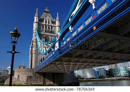 Great Tower Bridge in London, UK - stock photo