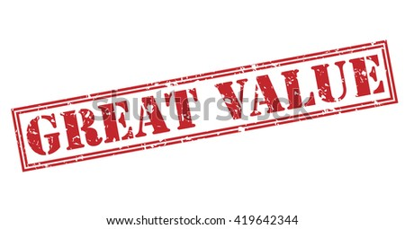 Great value stamp - stock photo