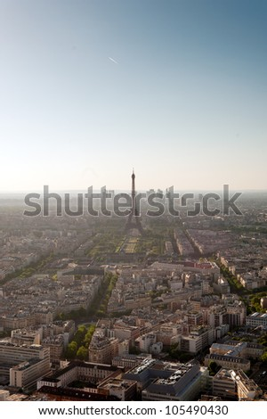 Great view of Paris in high definition from Montparnasse tower