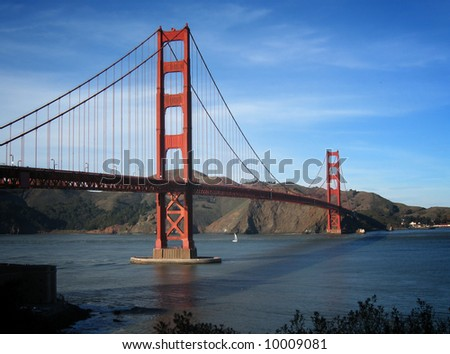 Great view of the Golden Gate Bridge, San Francisco, CA. - stock photo