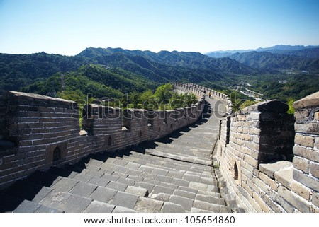Great wall in Beijing,China - stock photo