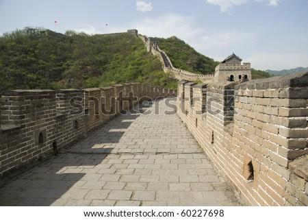 Great wall of china in mutianyu - stock photo