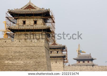 Great wall of Datong, China - stock photo