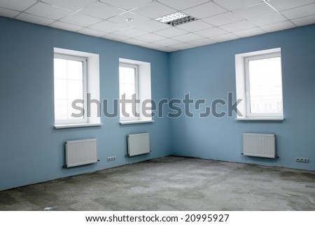 Greater room of modern under construction office