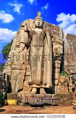 greatest buddhist landmarks - Awukana , Sri lanka - stock photo