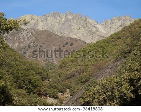Gredos`s mountain, Spain - stock photo