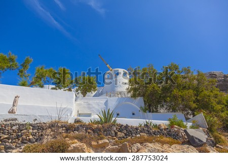 Greece amazing Santorini sights - stock photo