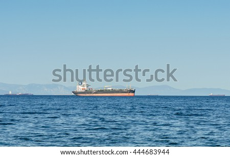 Greece, Athens JUNE 29 :  Barge in the bay view  June 29, 2016 in Athens, Greece.