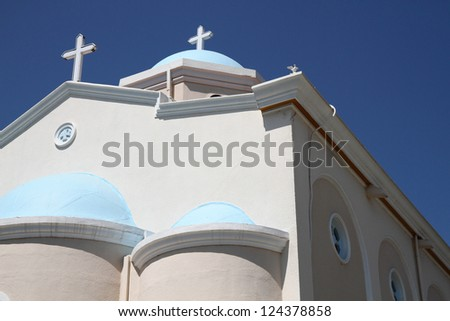 greece church detail from Kos Island - stock photo