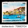 GREECE - CIRCA 1990: A stamp printed in Greece shows seascape, circa 1990 - stock photo