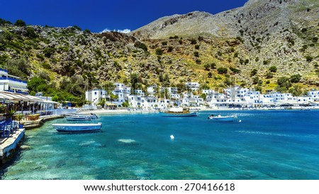 Greece, Crete, Loutro - stock photo