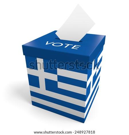Greece election ballot box for collecting votes - stock photo