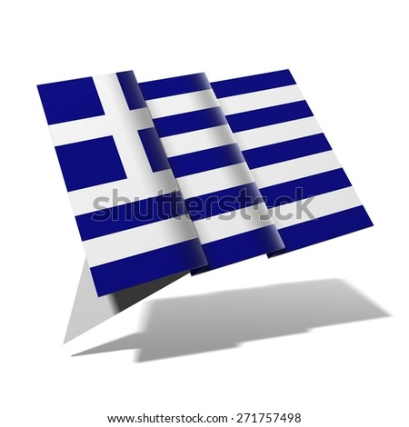 Greece flag 3D banner - stock photo