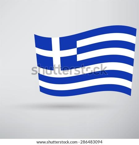 Greece Flag Icon - stock photo
