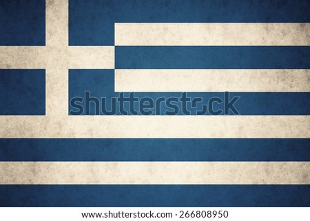greece flag on concrete textured background - stock photo
