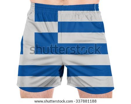 Greece. Greek flag  - stock photo