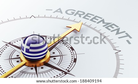 Greece High Resolution Agreement Concept - stock photo