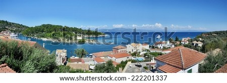 Greece,island Paxos-panoramic view of the Gaios and Ag.Nicholas island