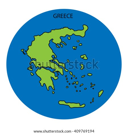 Greece Map - stock photo