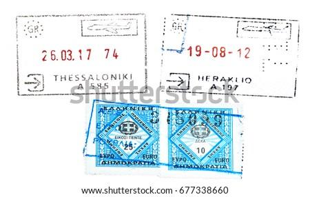 Poland passport stamp stock illustration 674718088 shutterstock greece passport stamp ccuart Choice Image
