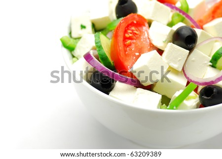 Greece salad - stock photo