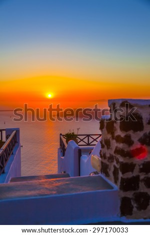 Greece Santorini island in Cyclades one of the most famous sunsets of the world