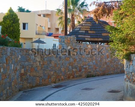 Greece street - stock photo