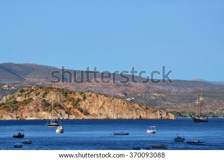 Greece,Tolo-views of seacoast at sunset