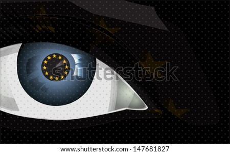 greedy eye with euro sign, background