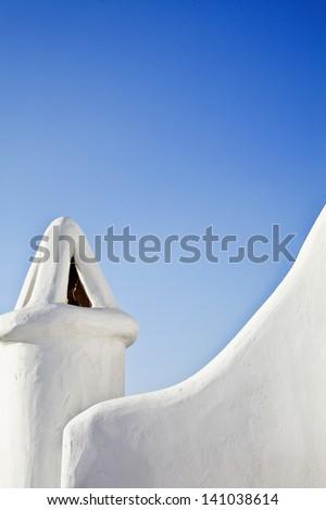 Greek Architecture Mykonos - stock photo