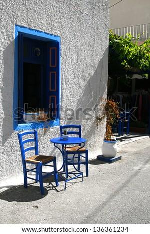 Greek atmosphere, the Greek island of Kos town Kos - stock photo