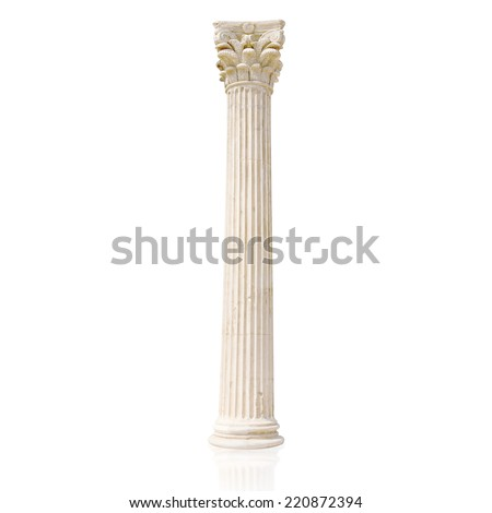 greek column - stock photo