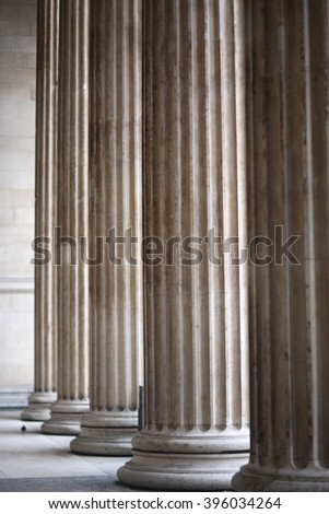 Greek columns - stock photo