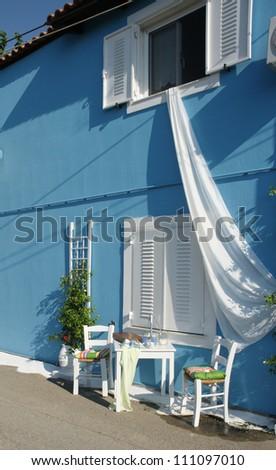 Greek corner - stock photo
