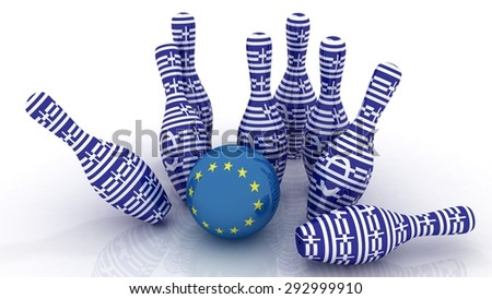 Greek crisis. Greece vs Europe - stock photo