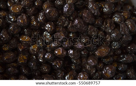Greek dried olives. Europe