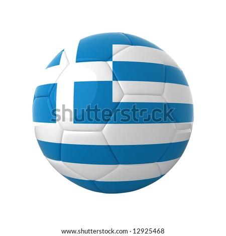 Greek football for europe's championship. - stock photo