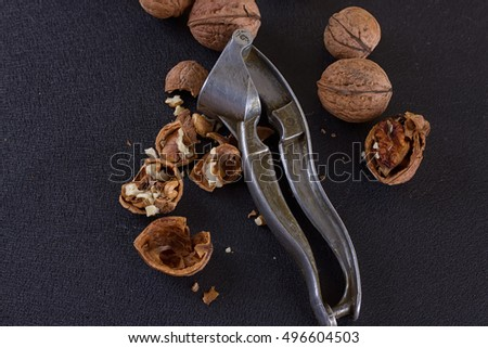 Greek nuts whole and split and the Nutcracker