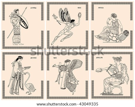 Greek olympic gods - stock photo